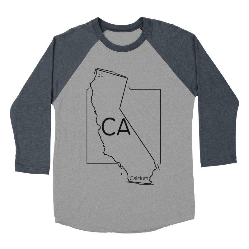Calcifornia Women's Baseball Triblend Longsleeve T-Shirt by Eriklectric's Artist Shop