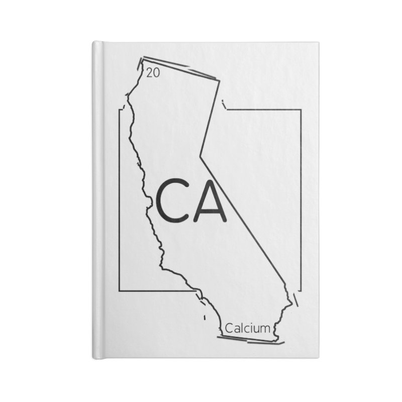 Calcifornia Accessories Lined Journal Notebook by Eriklectric's Artist Shop