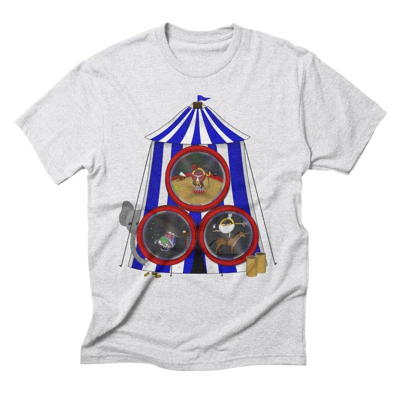 3 Ring Circus Men's T-Shirt by Eriklectric's Artist Shop
