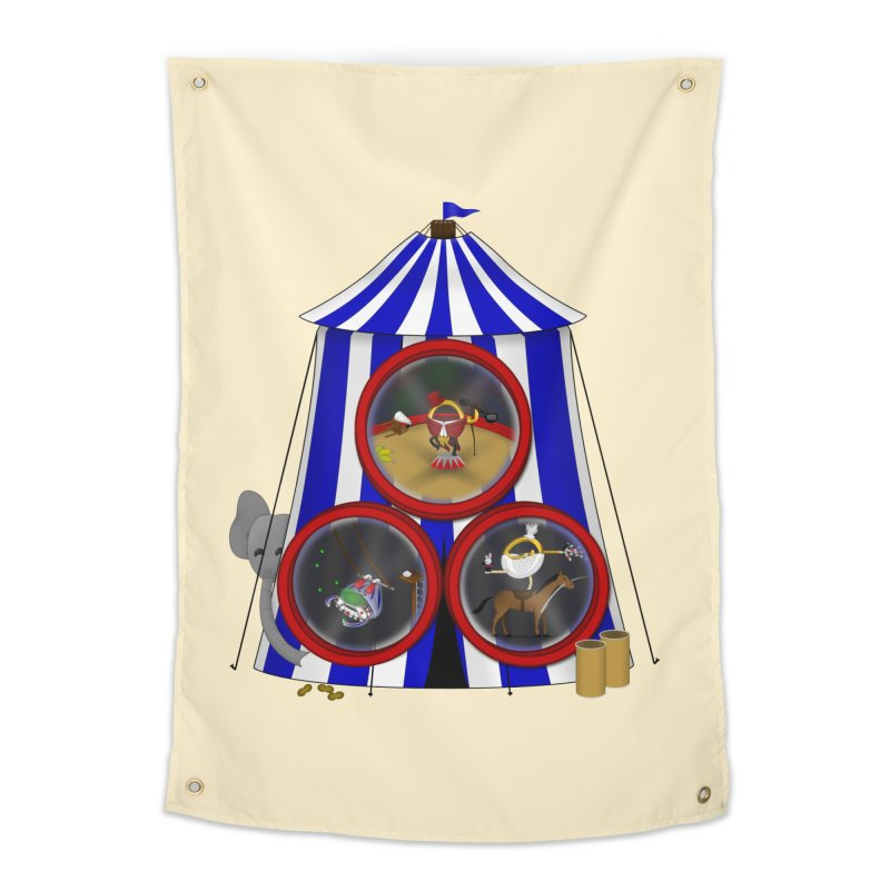3 Ring Circus Home Tapestry by Eriklectric's Artist Shop