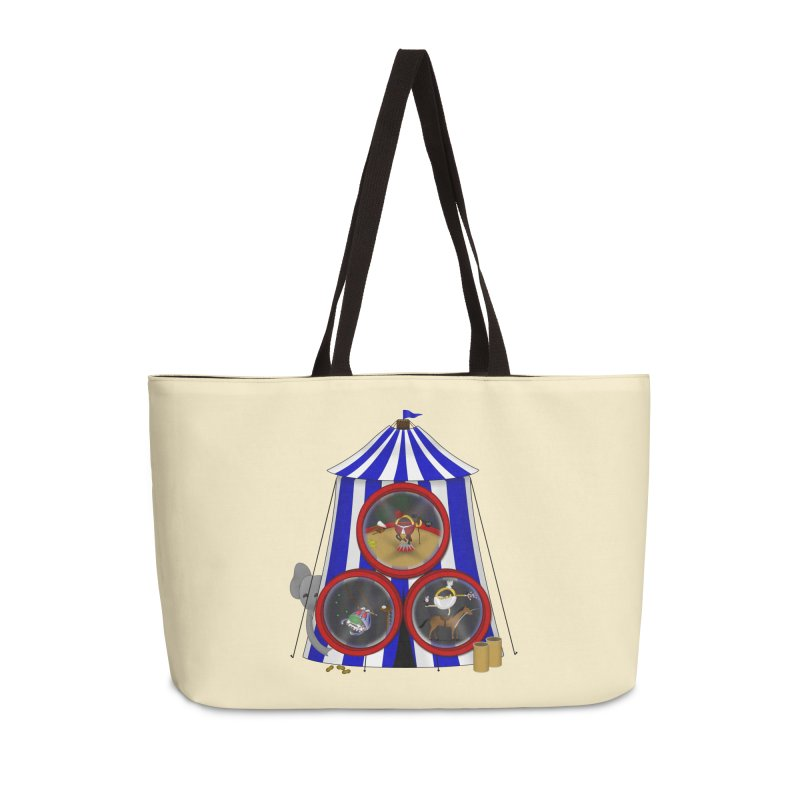 3 Ring Circus Accessories Weekender Bag Bag by Eriklectric's Artist Shop