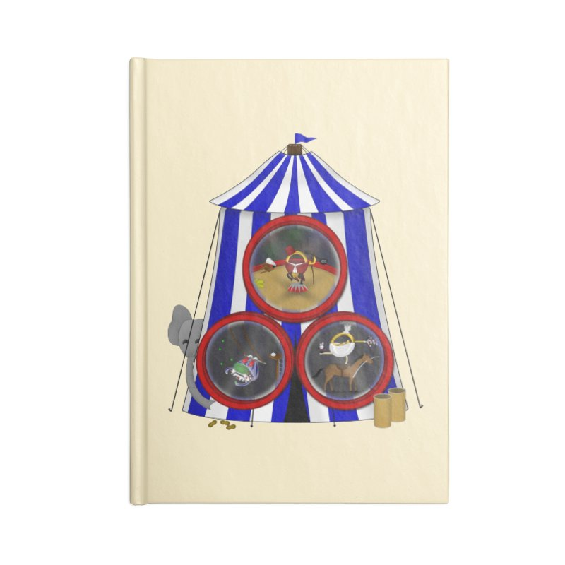 3 Ring Circus Accessories Lined Journal Notebook by Eriklectric's Artist Shop