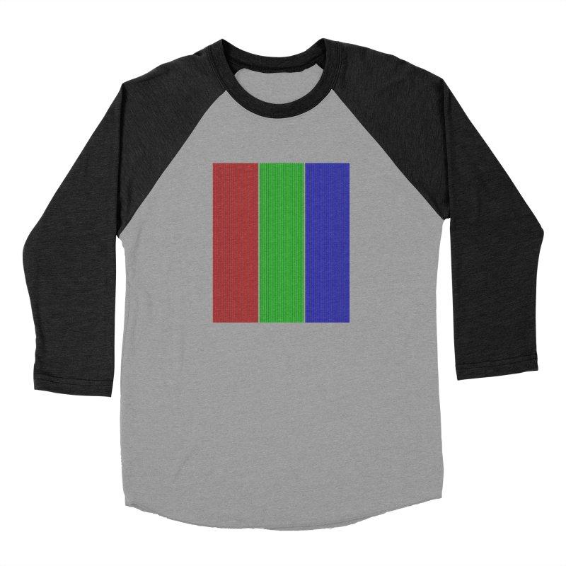 Giant Pixel Men's Baseball Triblend Longsleeve T-Shirt by Eriklectric's Artist Shop