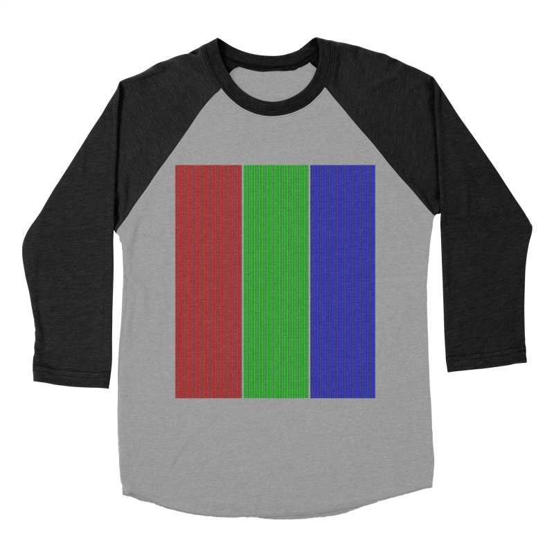 Giant Pixel Women's Baseball Triblend Longsleeve T-Shirt by Eriklectric's Artist Shop