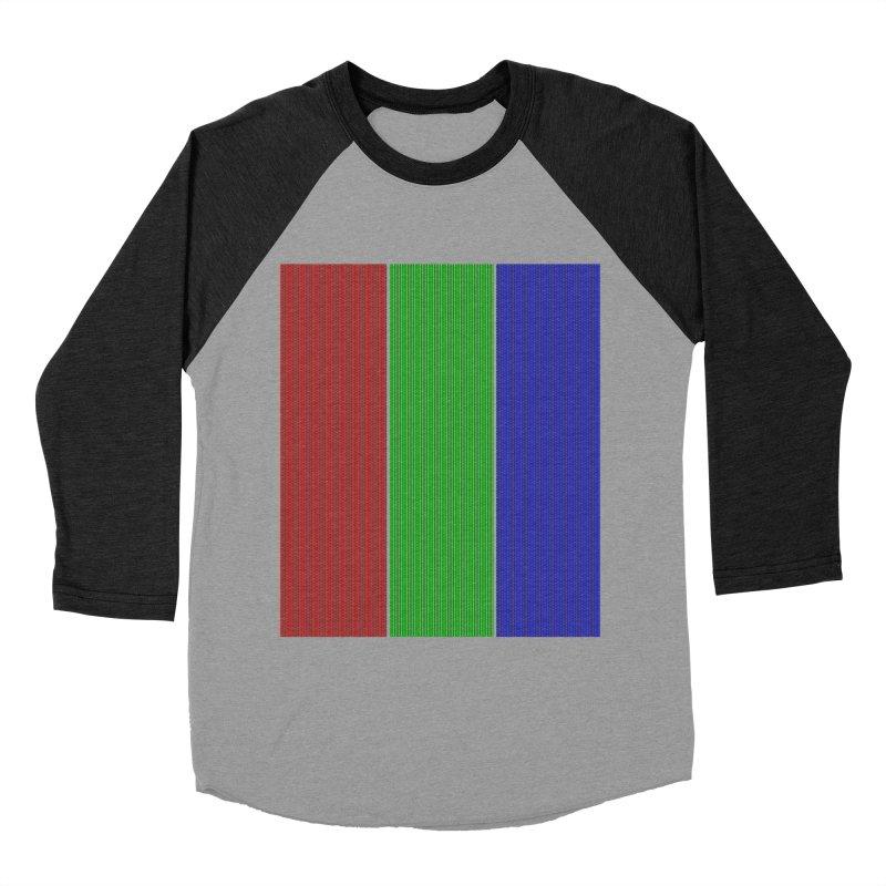 Giant Pixel Men's Baseball Triblend T-Shirt by Eriklectric's Artist Shop
