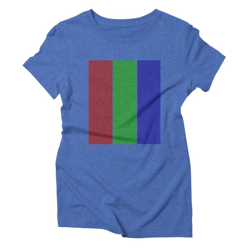 Giant Pixel Women's Triblend T-Shirt by Eriklectric's Artist Shop