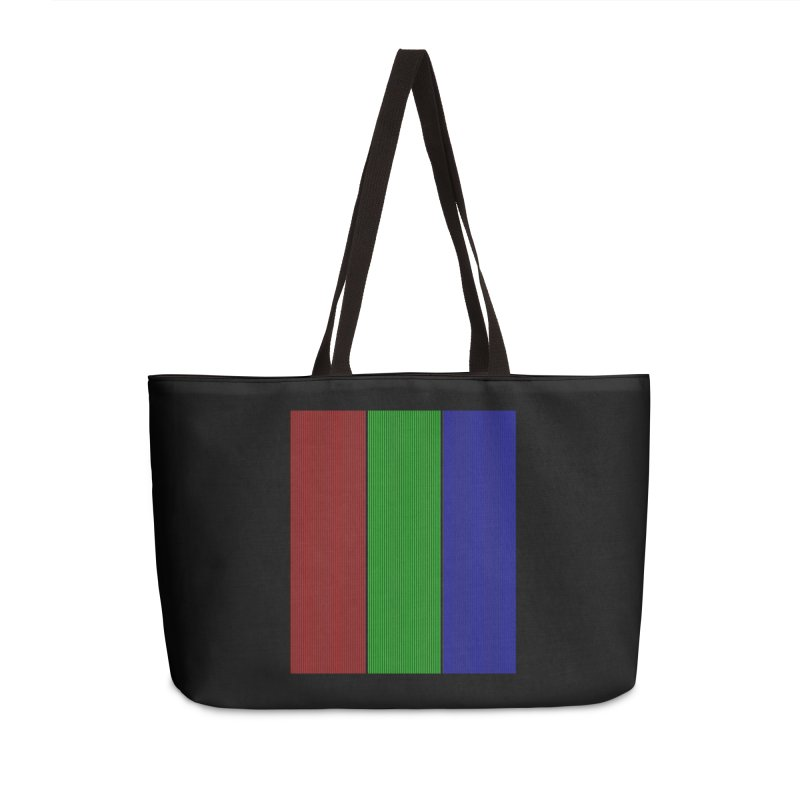Giant Pixel Accessories Weekender Bag Bag by Eriklectric's Artist Shop