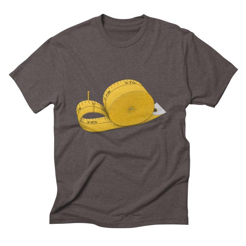 Tape Measure Snail Men's Triblend T-Shirt by Eriklectric's Artist Shop