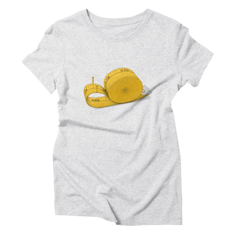 Tape Measure Snail Women's Triblend T-Shirt by Eriklectric's Artist Shop