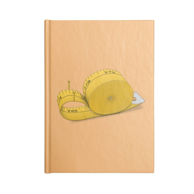 Tape Measure Snail Accessories Lined Journal Notebook by Eriklectric's Artist Shop