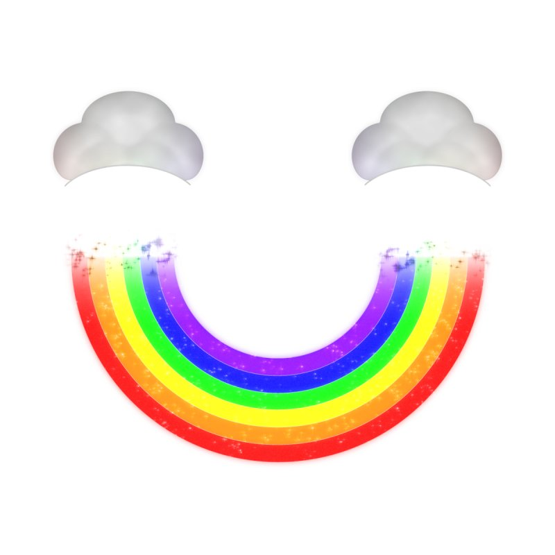Rainbow Smile Men's T-Shirt by Eriklectric's Artist Shop