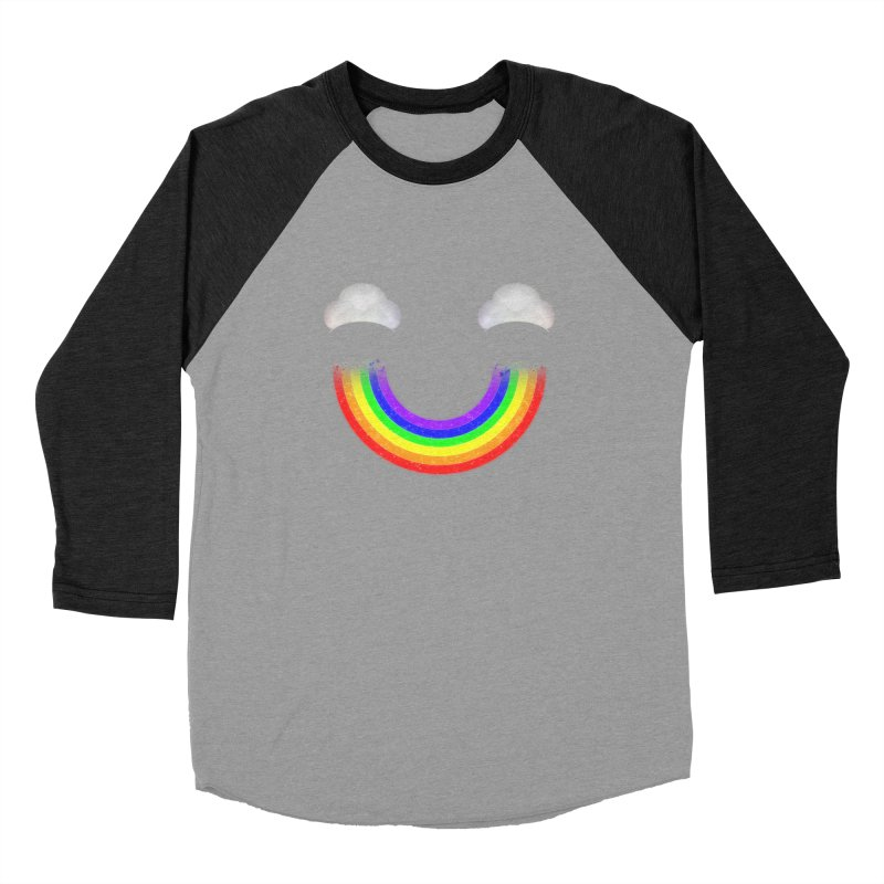 Rainbow Smile Men's Baseball Triblend Longsleeve T-Shirt by Eriklectric's Artist Shop