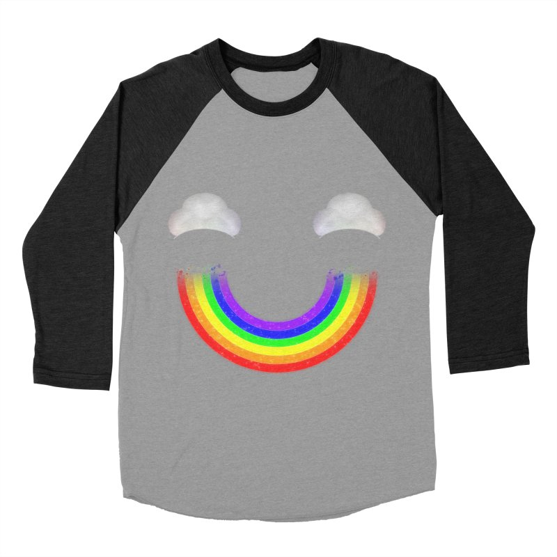 Rainbow Smile Men's Baseball Triblend Longsleeve T-Shirt by Eriklectric's Artist Shop