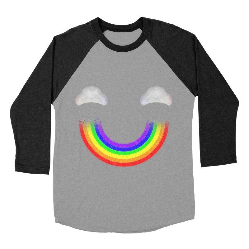Rainbow Smile Men's Baseball Triblend T-Shirt by Eriklectric's Artist Shop