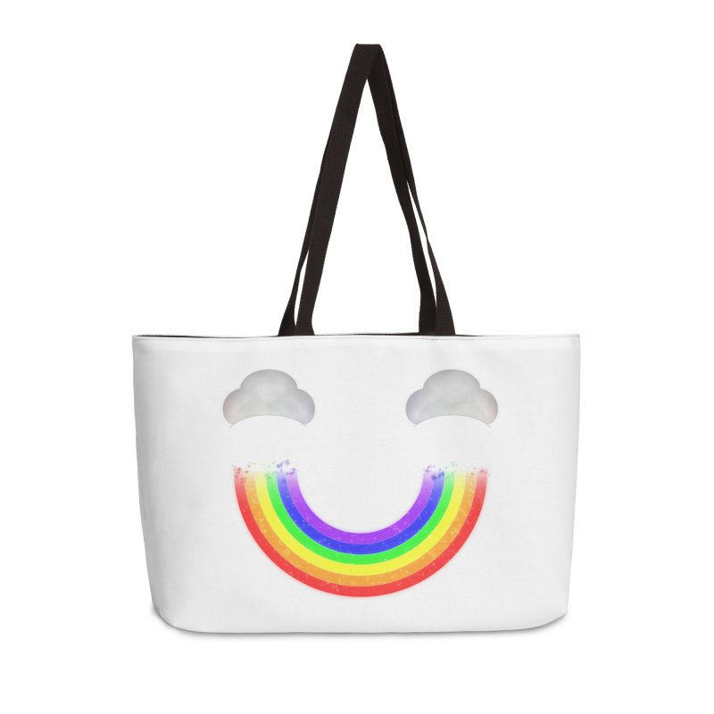 Rainbow Smile Accessories Weekender Bag Bag by Eriklectric's Artist Shop