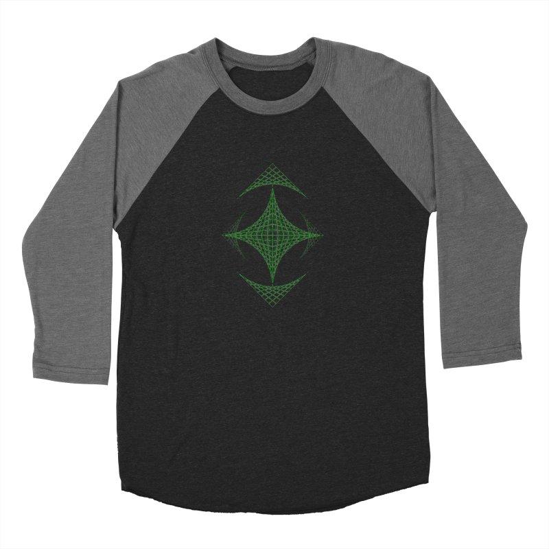 Grid Diamond Men's Baseball Triblend Longsleeve T-Shirt by Eriklectric's Artist Shop
