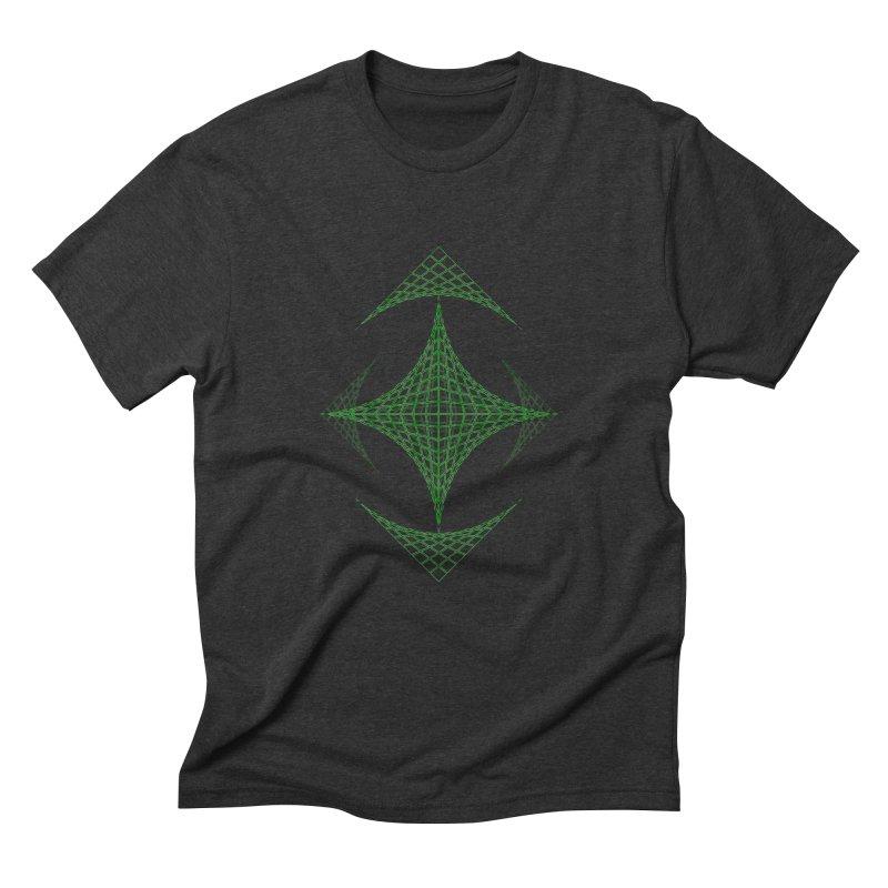 Grid Diamond Men's Triblend T-Shirt by Eriklectric's Artist Shop