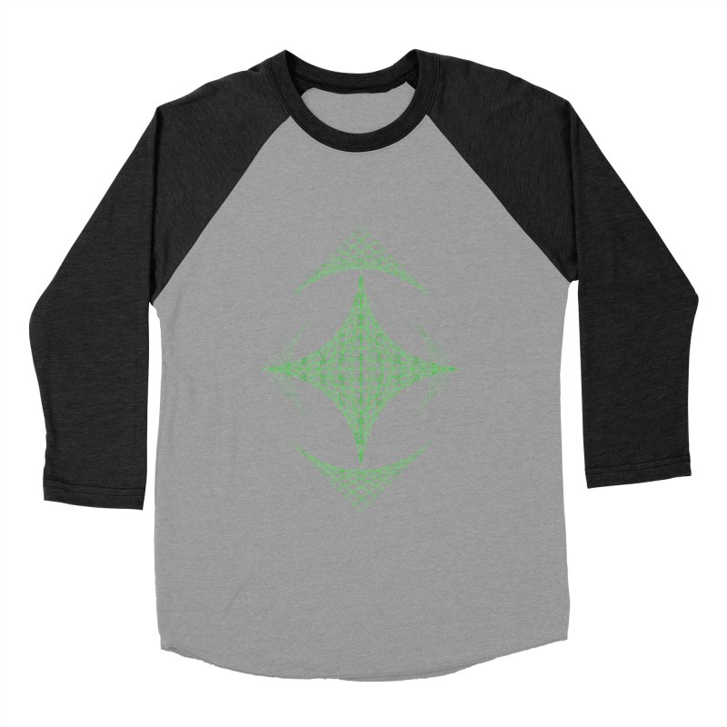 Grid Diamond Women's Baseball Triblend Longsleeve T-Shirt by Eriklectric's Artist Shop