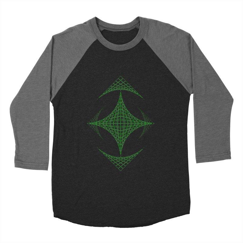 Grid Diamond Men's Baseball Triblend T-Shirt by Eriklectric's Artist Shop