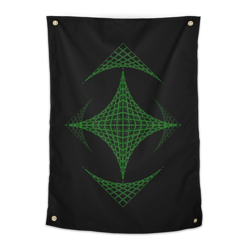 Grid Diamond Home Tapestry by Eriklectric's Artist Shop