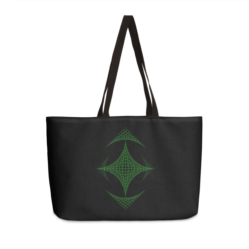 Grid Diamond Accessories Weekender Bag Bag by Eriklectric's Artist Shop