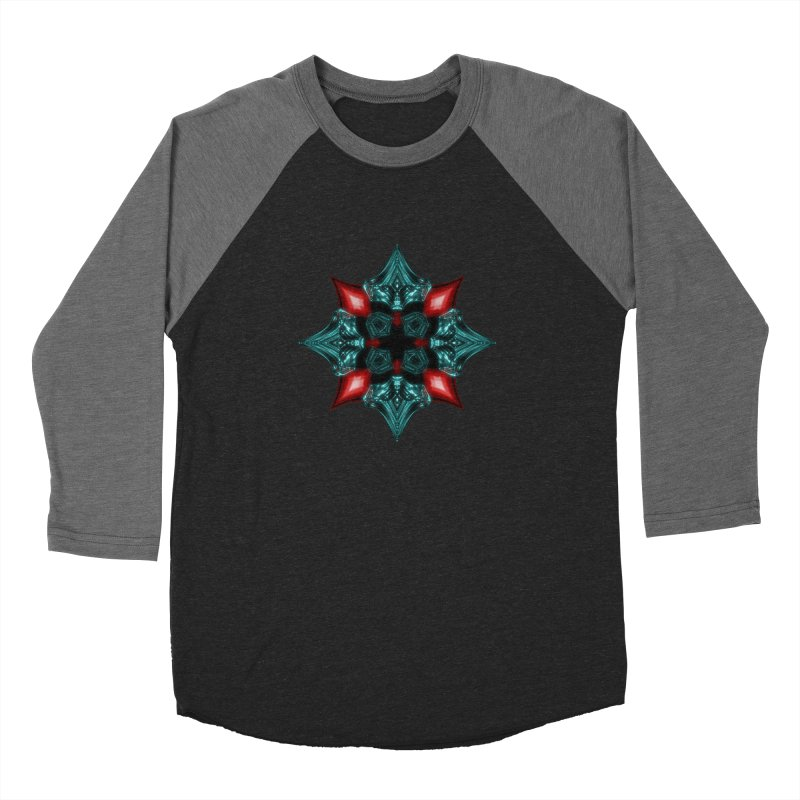 Fire and Ice Snowflake Women's Baseball Triblend Longsleeve T-Shirt by Eriklectric's Artist Shop