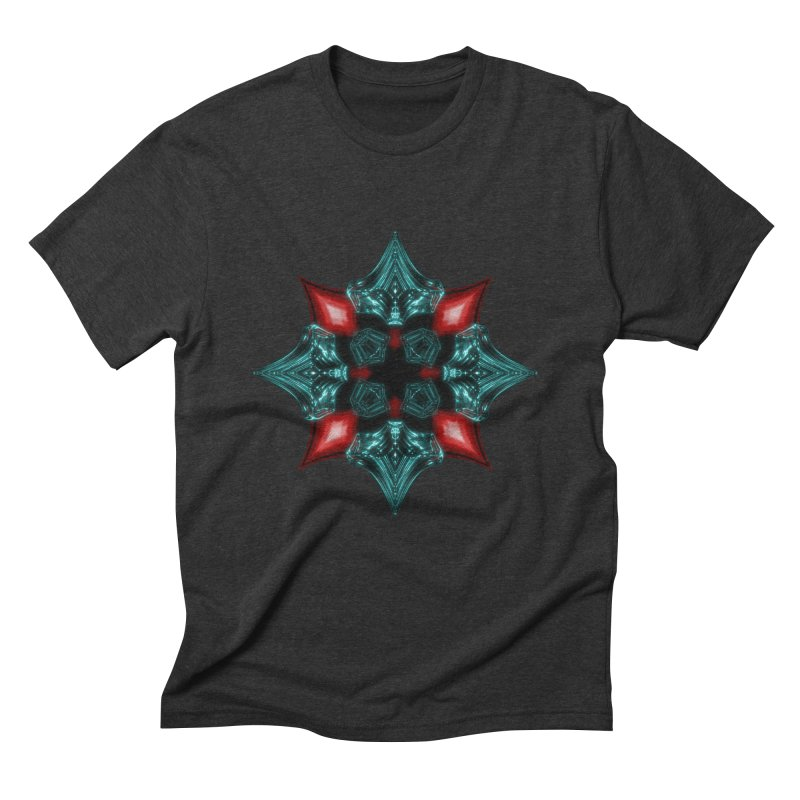 Fire and Ice Snowflake Men's Triblend T-Shirt by Eriklectric's Artist Shop