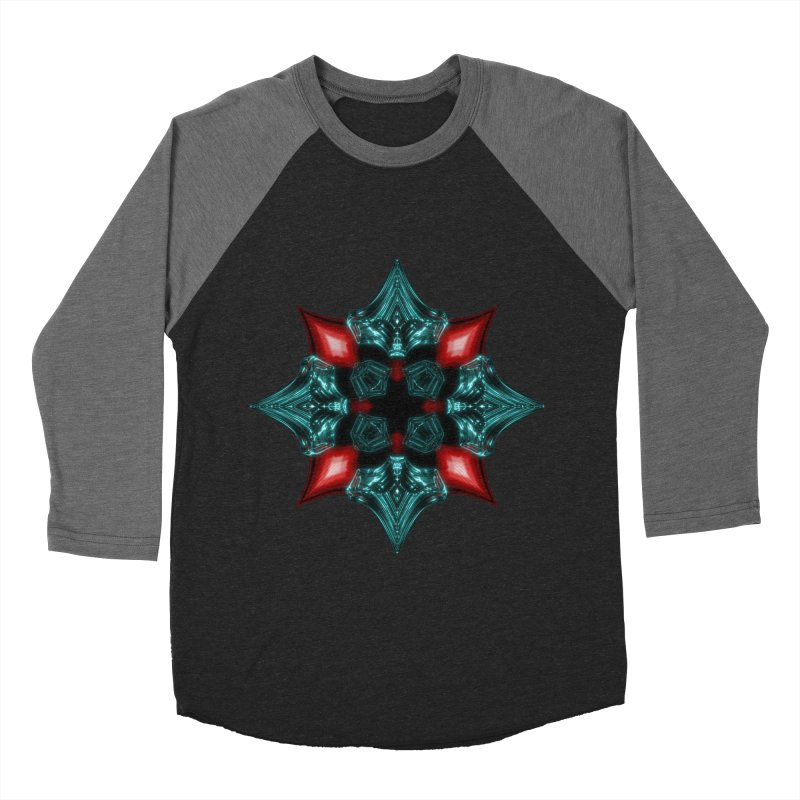 Fire and Ice Snowflake Men's Baseball Triblend Longsleeve T-Shirt by Eriklectric's Artist Shop