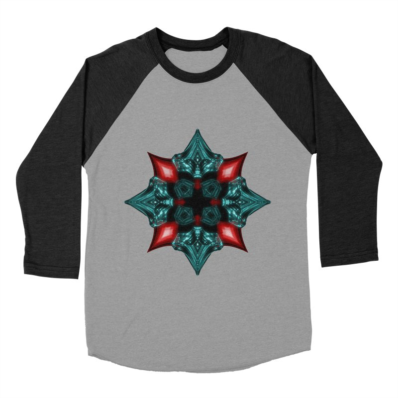 Fire and Ice Snowflake Men's Baseball Triblend T-Shirt by Eriklectric's Artist Shop