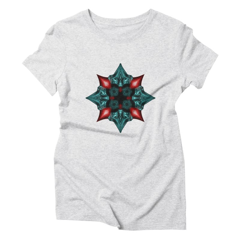 Fire and Ice Snowflake Women's Triblend T-Shirt by Eriklectric's Artist Shop