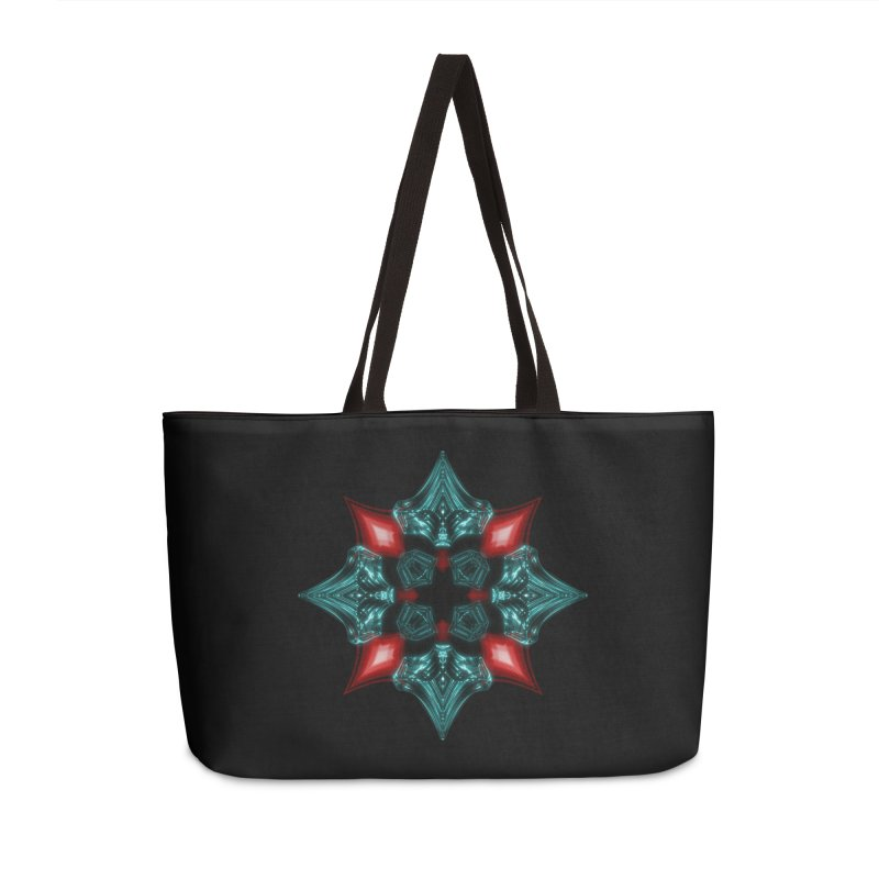 Fire and Ice Snowflake Accessories Weekender Bag Bag by Eriklectric's Artist Shop