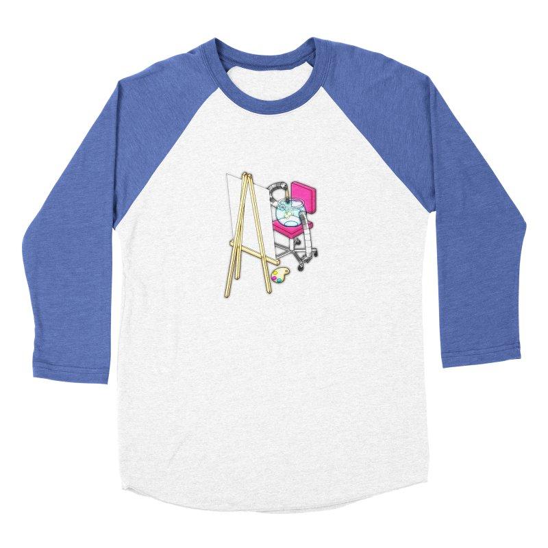 Fish Painter Men's Baseball Triblend Longsleeve T-Shirt by Eriklectric's Artist Shop