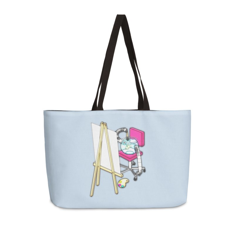 Fish Painter Accessories Weekender Bag Bag by Eriklectric's Artist Shop