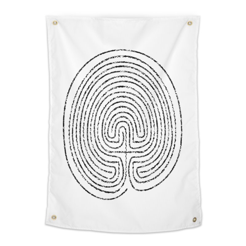 Thumbprint Labyrinth Home Tapestry by Eriklectric's Artist Shop