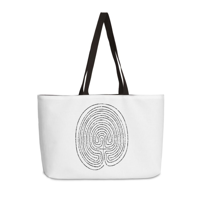 Thumbprint Labyrinth Accessories Weekender Bag Bag by Eriklectric's Artist Shop
