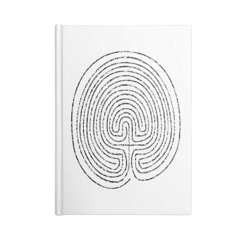 Thumbprint Labyrinth Accessories Lined Journal Notebook by Eriklectric's Artist Shop