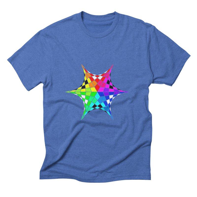 Color Wheel Star Men's T-Shirt by Eriklectric's Artist Shop
