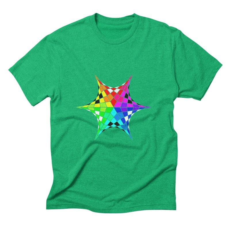 Color Wheel Star Men's Triblend T-Shirt by Eriklectric's Artist Shop
