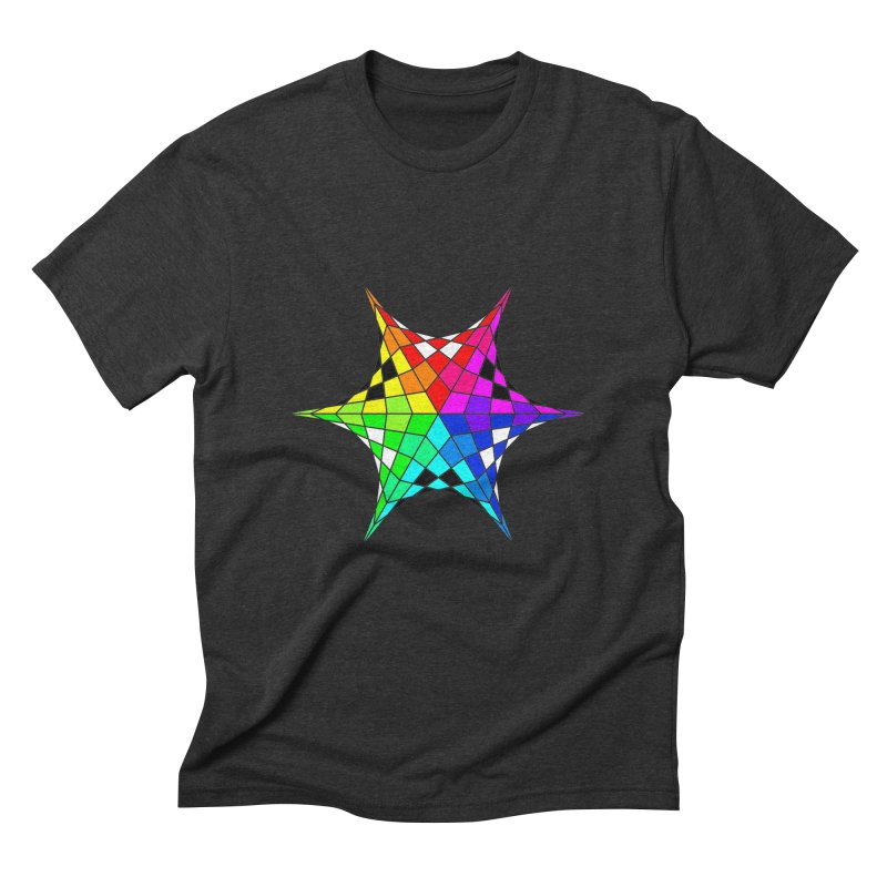 Color Wheel Star Men's Triblend T-Shirt by Eriklectric's Artist Shop