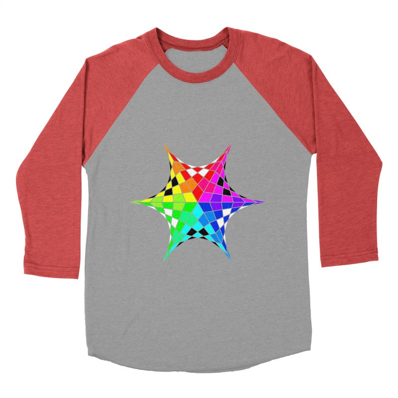Color Wheel Star Men's Longsleeve T-Shirt by Eriklectric's Artist Shop