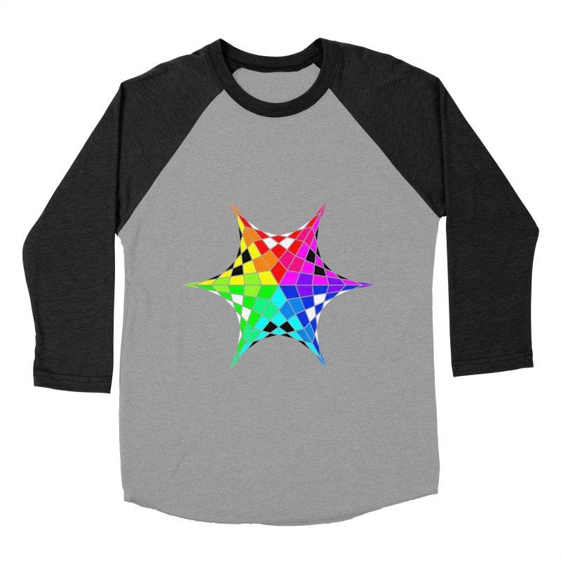 Color Wheel Star Men's Baseball Triblend T-Shirt by Eriklectric's Artist Shop