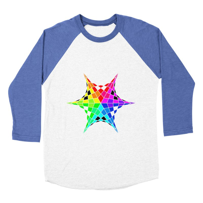 Color Wheel Star Men's Baseball Triblend Longsleeve T-Shirt by Eriklectric's Artist Shop