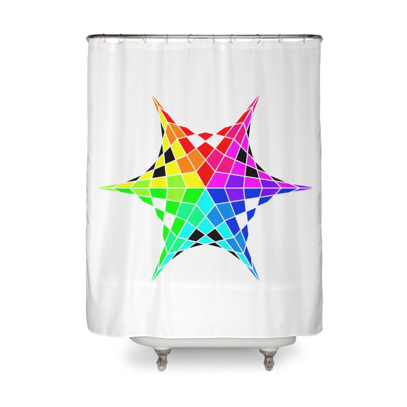 Color Wheel Star Home Shower Curtain by Eriklectric's Artist Shop
