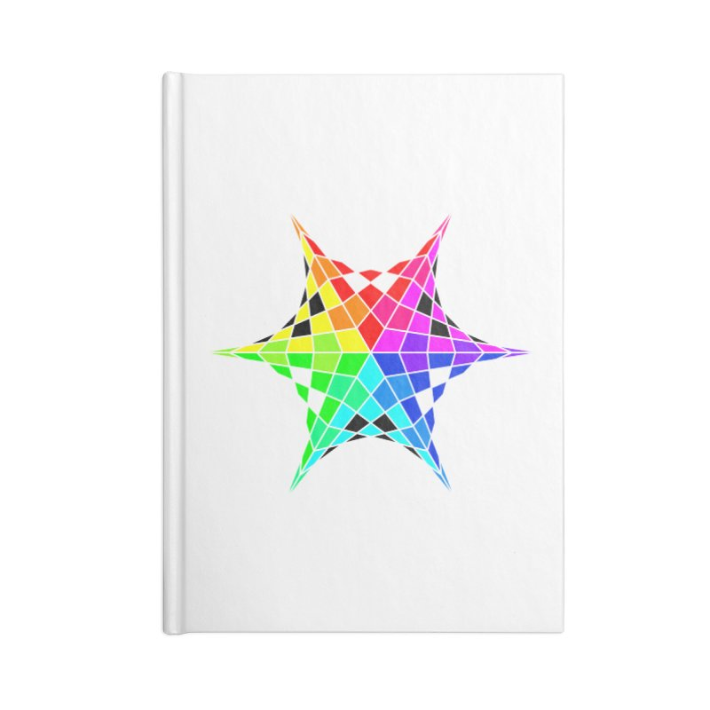 Color Wheel Star Accessories Blank Journal Notebook by Eriklectric's Artist Shop