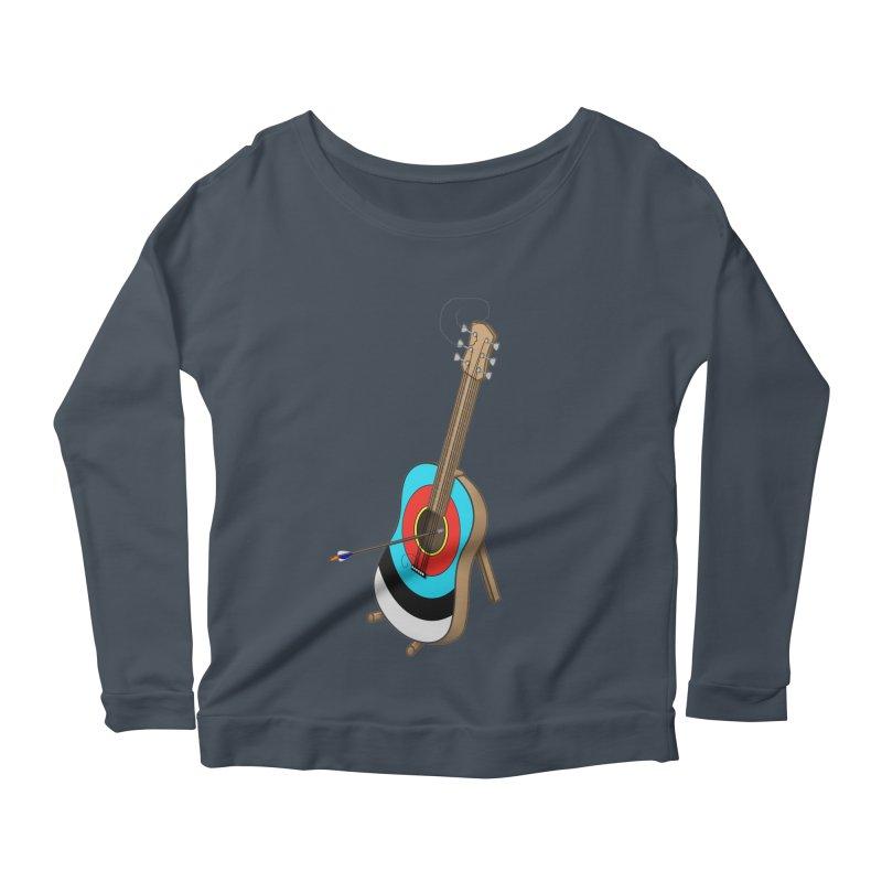 Guitarget Women's Longsleeve Scoopneck  by Eriklectric's Artist Shop