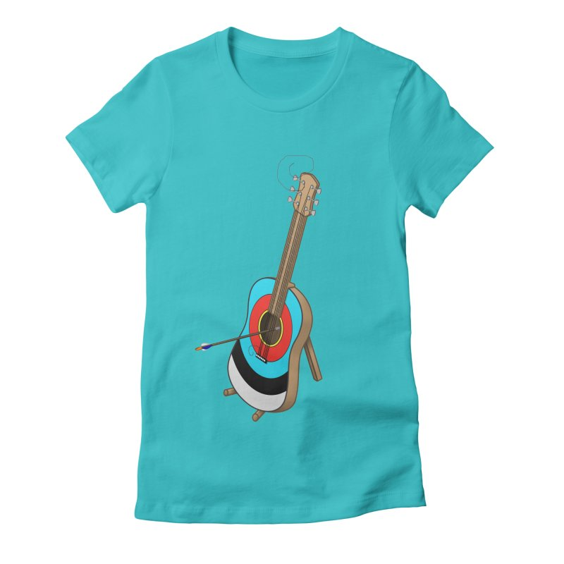 Guitarget Women's Fitted T-Shirt by Eriklectric's Artist Shop