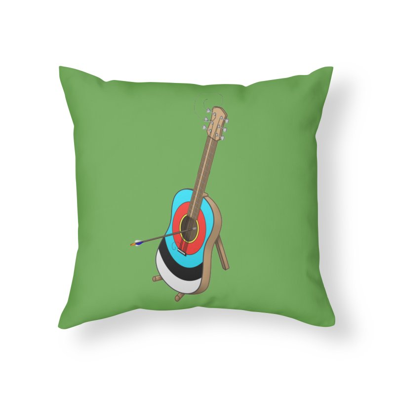 Guitarget Home Throw Pillow by Eriklectric's Artist Shop
