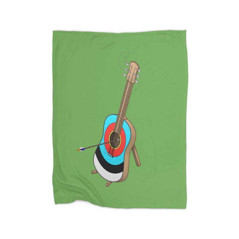 Guitarget Home Fleece Blanket Blanket by Eriklectric's Artist Shop