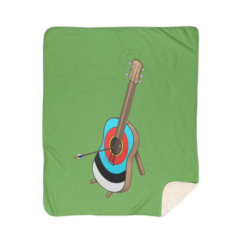 Guitarget Home Sherpa Blanket Blanket by Eriklectric's Artist Shop