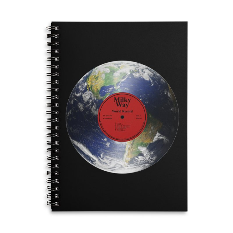 World Record Accessories Notebook by Eriklectric's Artist Shop